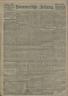Pommersche Zeitung : organ für Politik und Provinzial-Interessen. 1900 Nr. 202