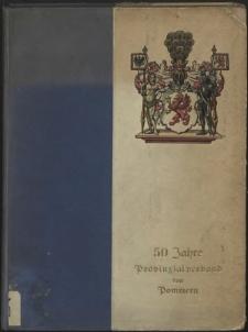 50 Jahre Provinzialverband von Pommern
