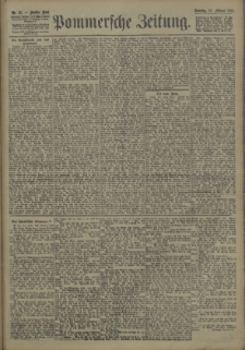 Pommersche Zeitung : organ für Politik und Provinzial-Interessen. 1907 Nr. 39