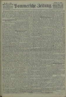 Pommersche Zeitung : organ für Politik und Provinzial-Interessen. 1903 Nr. 202