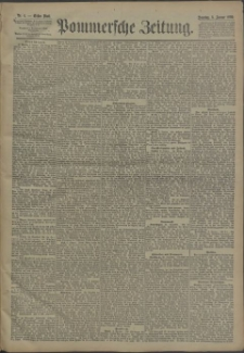Pommersche Zeitung : organ für Politik und Provinzial-Interessen. 1890 Nr. 25 Blatt 1