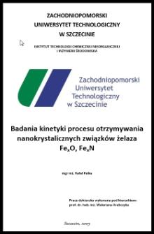 Badania kinetyki procesu otrzymywania nanokrystalicznych związków żelaza FexO, FexN
