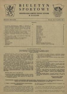 Biuletyn Sportowy Wojewódzkiego Komitetu Kultury Fizycznej w Szczecinie. 1955 wyd.spec. z dn.20 XII