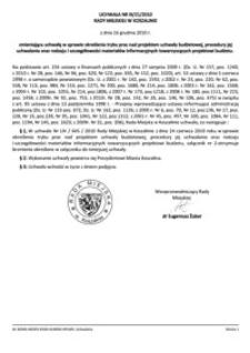 Uchwała Rady Miejskiej w Koszalinie nr III/21/2010