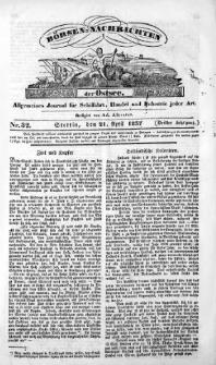 Börsen-Nachrichten der Ost-See : allgemeines Journal für Schiffahrt, Handel und Industrie jeder Art. 1837 Nr. 32