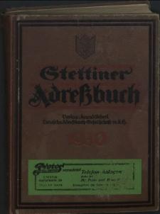 Stettiner Adressbuch : unter Benutzung amtlicher Quellen. J.74, 1930