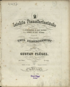 2 leichte Pianofortestücke : 22tes Werk No 1, Kinderstück zu drei Haenden : (auch für Pfte und Violine oder Flüte ausführbar)
