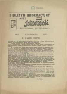"""Biuletyn Informacyjny NSZZ """"Solidarność"""" Politechniki Szczecińskiej. 1981 nr 20"""