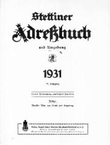 Stettiner Adressbuch : unter Benutzung amtlicher Quellen. J.75, 1931