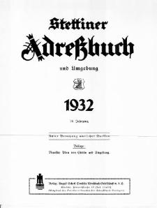 Stettiner Adressbuch : unter Benutzung amtlicher Quellen. J.76, 1932