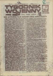 Tygodnik Wojenny : edycja Pomorze Zachodnie. 1985 nr 103