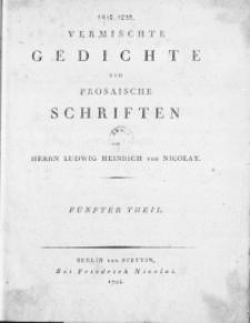 Vermischte Gedichte und Prosaische Schriften. T. 5 [-8]