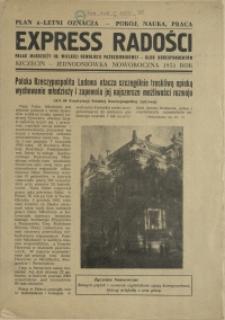 Express Radości : Pałac Młodzieży im. Wielkiej Rewolucji Październikowej : jednodniówka noworoczna. 1953