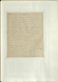 Listy Stanisława Ignacego Witkiewicza do żony Jadwigi z Unrugów Witkiewiczowej. List z 06.05.1929.