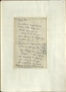 Listy Stanisława Ignacego Witkiewicza do żony Jadwigi z Unrugów Witkiewiczowej. List z 06.07.1929.