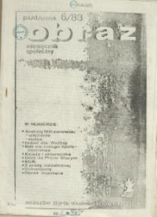 Obraz : miesięcznik społeczny. 1983 nr 6