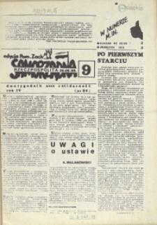 """Samorządna Rzeczpospolita : dwutygodnik NSZZ """"Solidarność"""" : edycja Pomorze Zachodnie. 1988 nr 9"""
