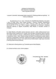 Uchwała Rady Miejskiej w Koszalinie nr XVII/223/2011