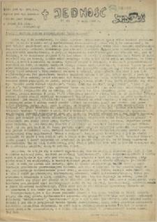Jedność : Organ Międzyzakładowego Komitetu Strajkowego przy Stoczni im. Adolfa Warskiego. 1982 nr 63
