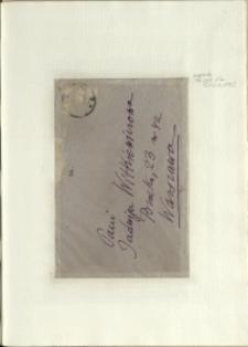 Listy Stanisława Ignacego Witkiewicza do żony Jadwigi z Unrugów Witkiewiczowej. Koperta do listu napisanego między 01. a 03.03.1935.
