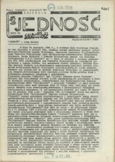 Jedność : Organ Międzyzakładowego Komitetu Strajkowego przy Stoczni im. Adolfa Warskiego. 1986 nr 1