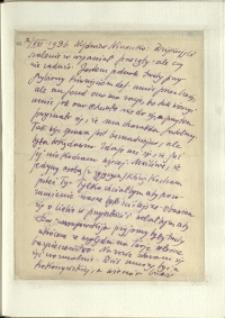Listy Stanisława Ignacego Witkiewicza do żony Jadwigi z Unrugów Witkiewiczowej. List z 02.08.1936.