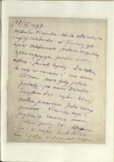 Listy Stanisława Ignacego Witkiewicza do żony Jadwigi z Unrugów Witkiewiczowej. List z 18.06.1937.