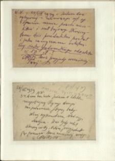 Listy Stanisława Ignacego Witkiewicza do żony Jadwigi z Unrugów Witkiewiczowej. Kartka pocztowa z 24.08.1939. Kartka pocztowa z 26.06.1939.