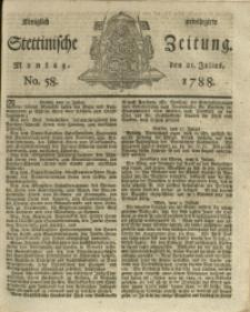 Königlich privilegirte Stettinische Zeitung. 1788 No. 58 + Beylage