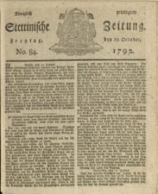 Königlich privilegirte Stettinische Zeitung. 1792 No. 84