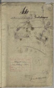 Das Duplicat des Kirchenbuchs daselbst Gerdshagen
