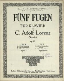 Fünf Fugen : für Klavier : Op. 95 H. 1