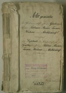 Duplikate des Kirchenbuches von den Grabowschen Gütern: Prütznow, Rienow, Tarnow, Wuhrow und Mühlendorf