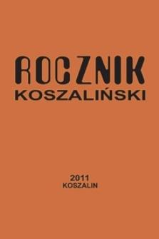Rocznik Koszaliński. 2011, nr 39