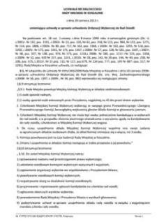 Uchwała Rady Miejskiej w Koszalinie nr XXII/347/2012