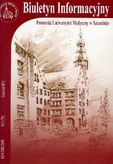 Biuletyn Informacyjny - Pomorski Uniwersytet Medyczny w Szczecinie. Nr 4 (78), Grudzień 2012