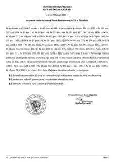 Uchwała Rady Miejskiej w Koszalinie nr XXVIII/430/2013