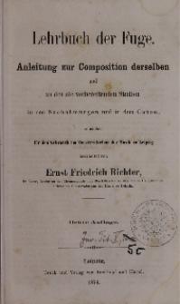 Die praktischen Studien zur Theorie der Musik. Bd. 3, Lehrbuch der Fuge
