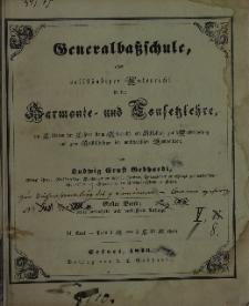 Generalbassschule ober vollstandiger Unterricht in der Harmonie und Confesselehre