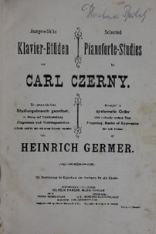 Ausgewahlte Klavier-Etuden von Carl Czerny