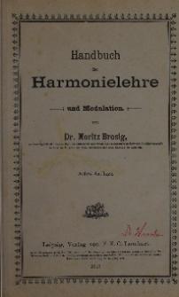 Handbuch der Harmonielehre und Modulation