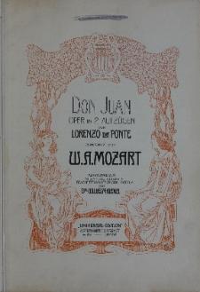 Don Juan : oper in 2 Aufzügen. Klavierauszug mit Text