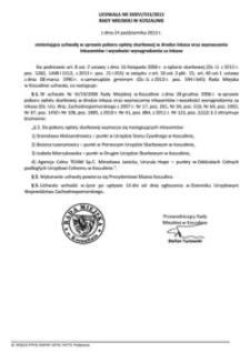 Uchwała Rady Miejskiej w Koszalinie nr XXXVI/553/2013