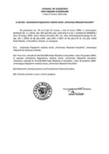 Uchwała Rady Miejskiej w Koszalinie nr XLI/629/2014
