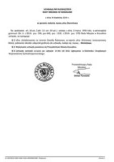 Uchwała Rady Miejskiej w Koszalinie nr XLII/642/2014