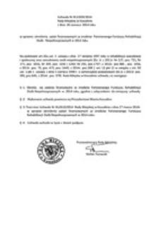 Uchwała Rady Miejskiej w Koszalinie nr XLV/659/2014