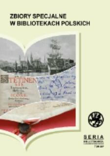 Zbiory specjalne w bibliotekach polskich :problematyka badawcza i organizacyjna