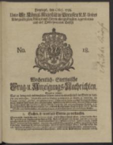 Wochentlich-Stettinische Frag- und Anzeigungs-Nachrichten. 1738 No. 18