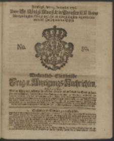 Wochentliche Stettinische zur Handlung nützliche Preis-Courante der Waaren und Wechsel-Cours, wie auch Frage- und Anzeigungs-Nachrichten. 1736 No. 50