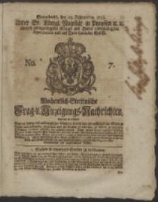 Wochentlich-Stettinische Frag- und Anzeigungs-Nachrichten. 1751 No. 7
